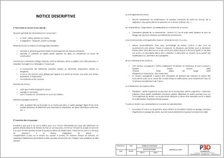 Permis de construire plans3d fr for Notice descriptive permis de construire